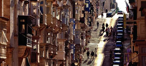 Unique views of a Valletta Street